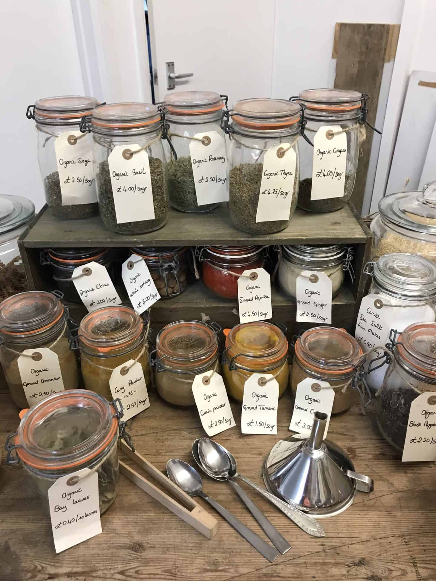 Zero waste shopping at My Refill Market pop up sustainable store in Stony Stratford