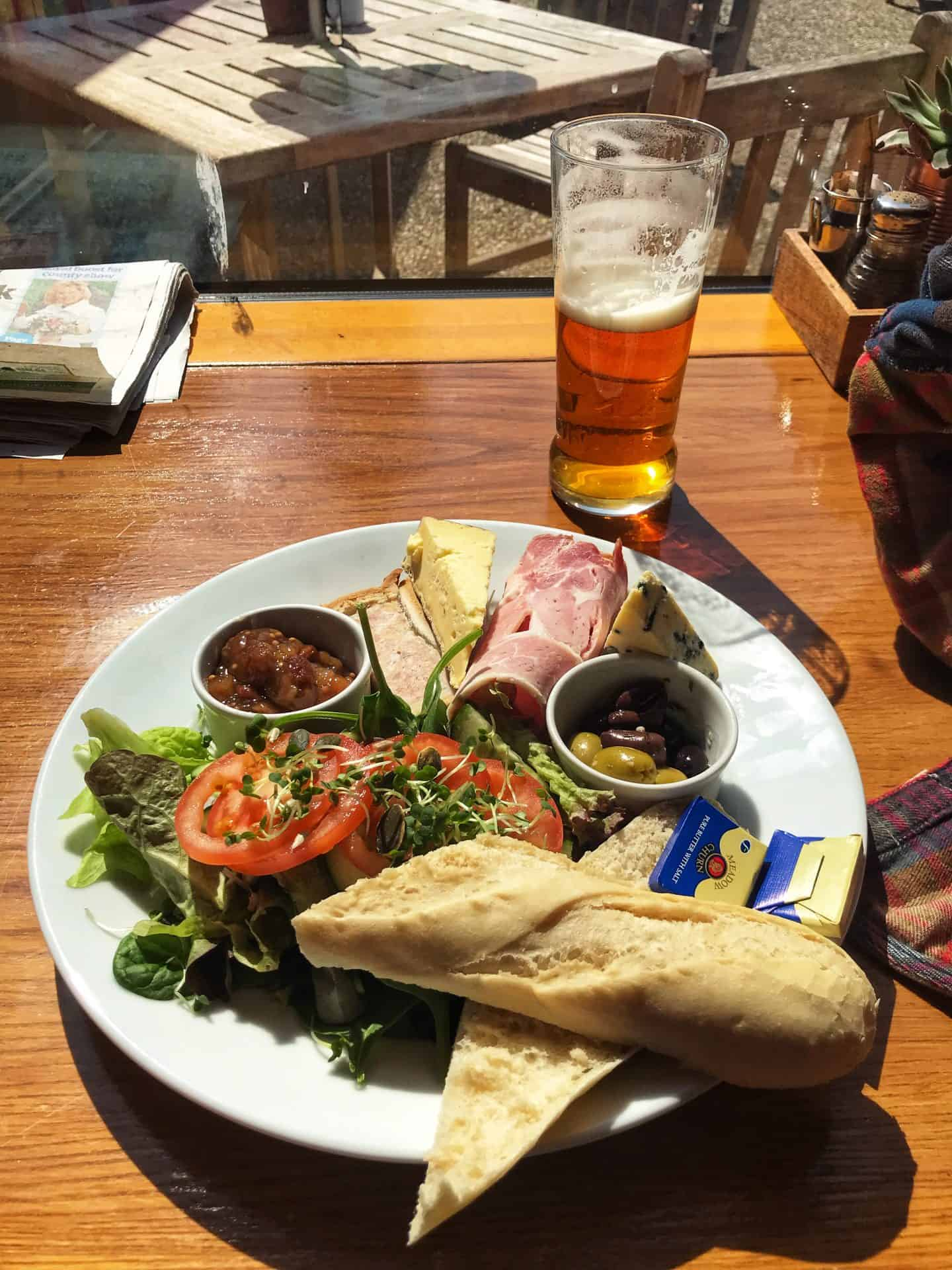 Posh ploughmans at Adnams Cafe in Southwold