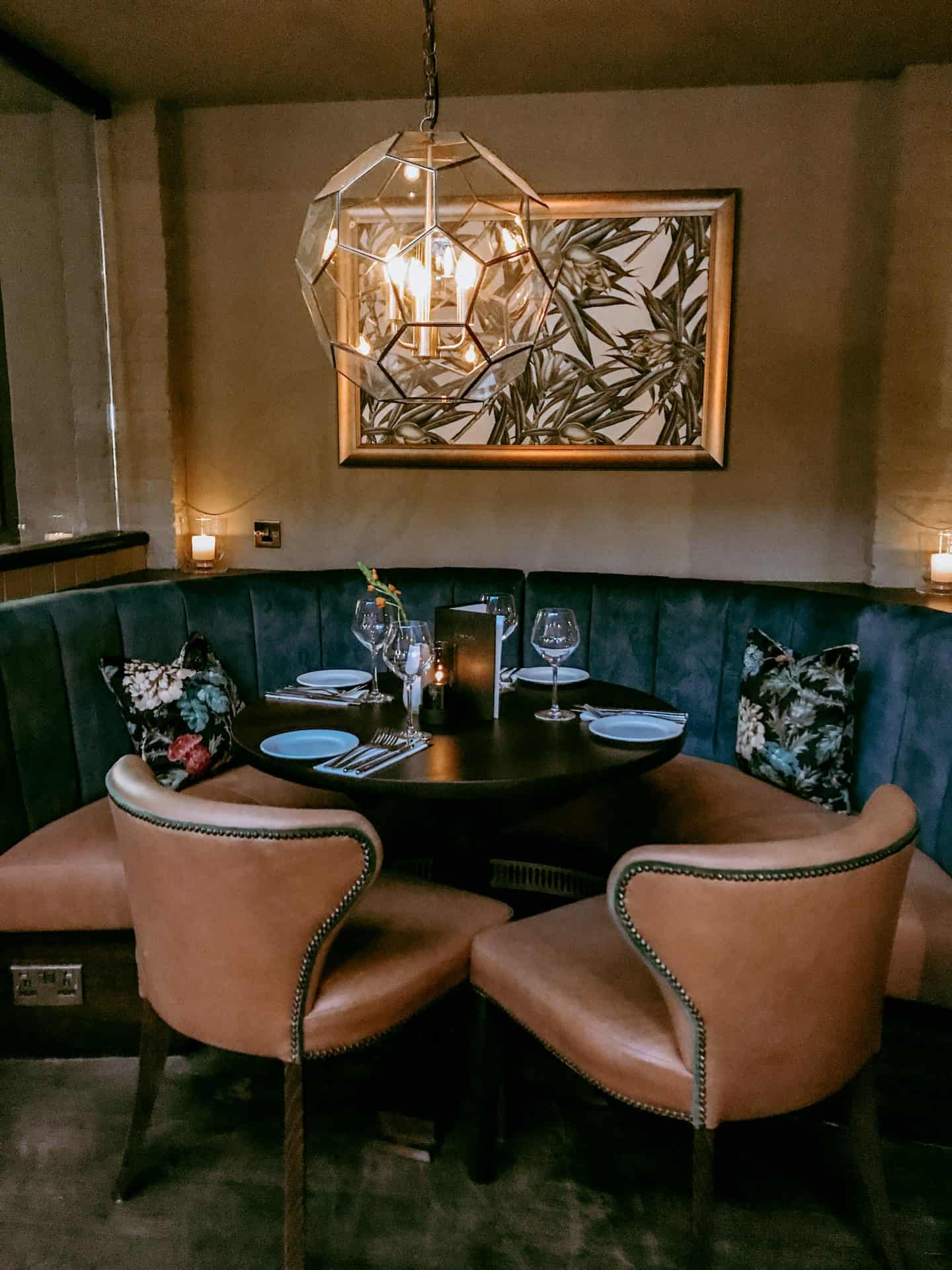 Intimate dining area at the Wavendon Arms