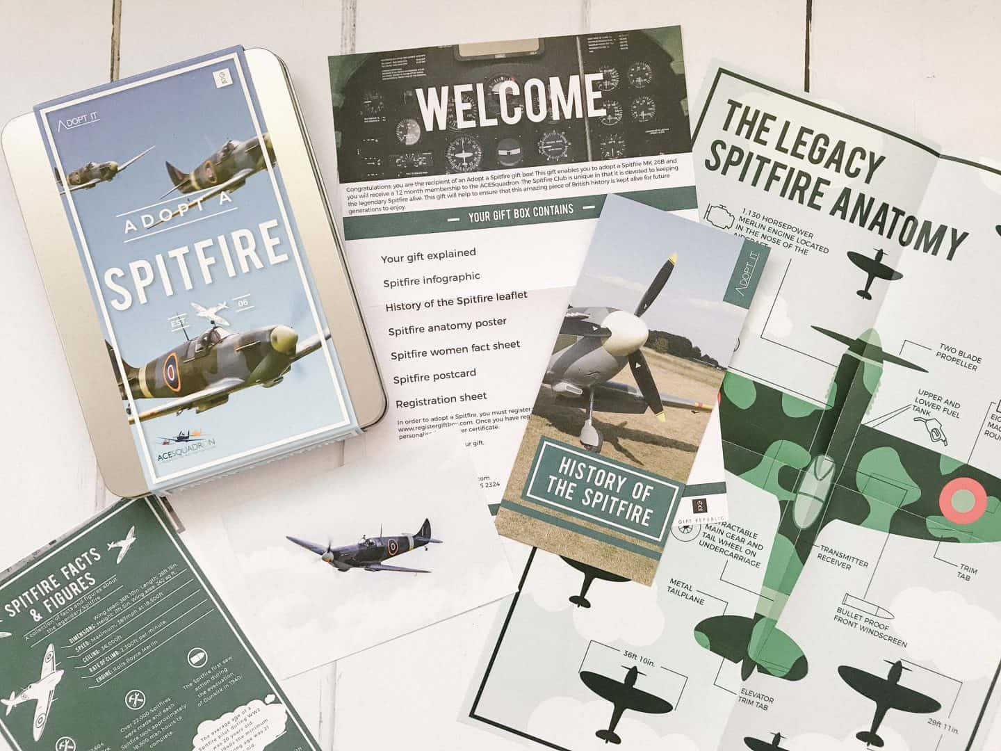 Adopt a Spitfire Gift Pack is a great Father's Day gift idea