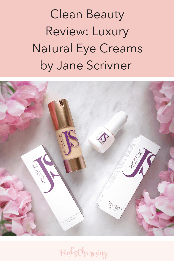 Clean Beauty Review - Luxury Natural Eye Creams by Jane Scrivner