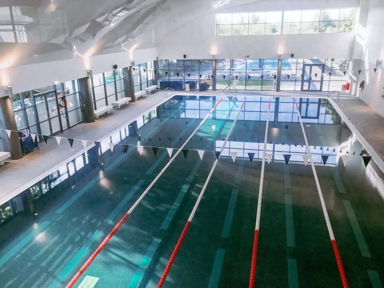 Looking down on the newly refurbished indoor swimming pool at David LLoyd Clubs, Milton Keynes