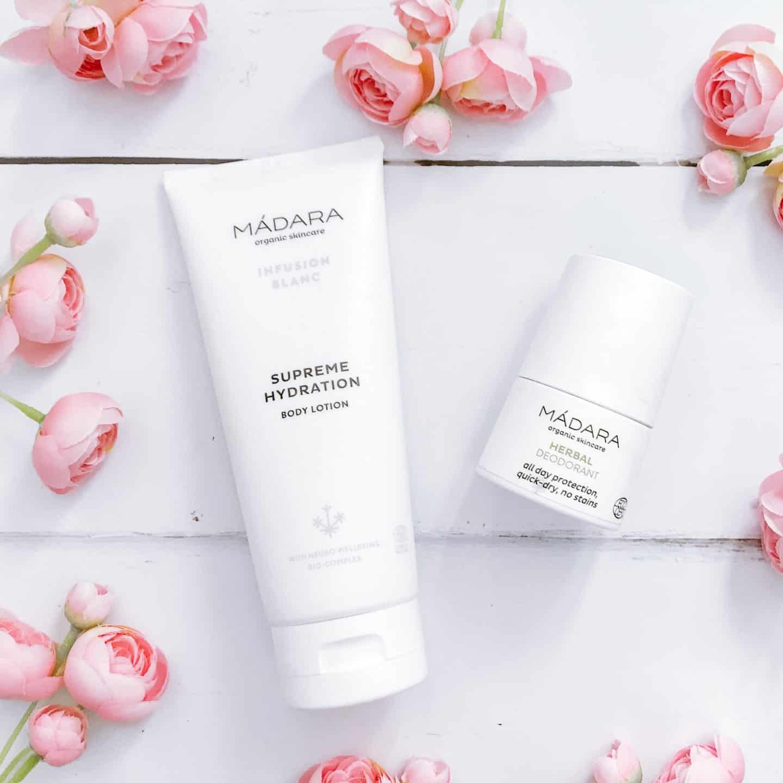 Madara Organic Skincare Body Lotion and Herbal Deodorant