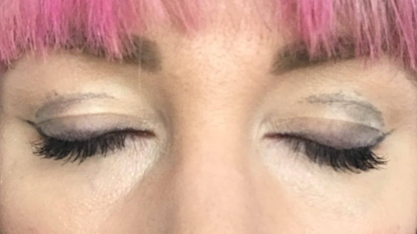 Prints of NATorigin Pencil Eye Liner in Black on eyelids after 45 minutes