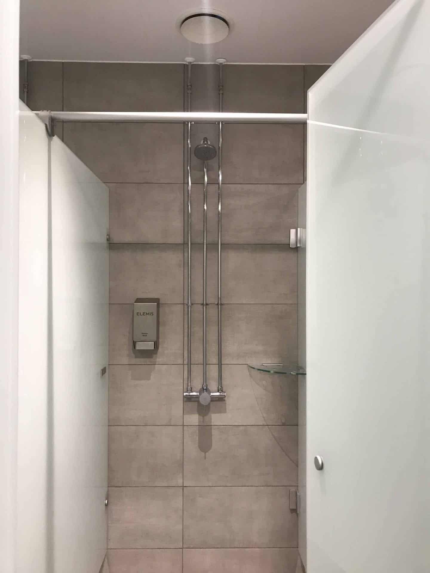 Shower cubicle at David Lloyd Milton Keynes