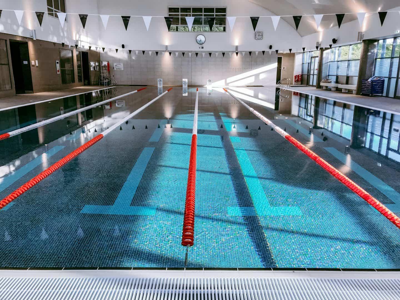 The newly refurbished indoor swimming pool at David LLoyd Milton Keynes
