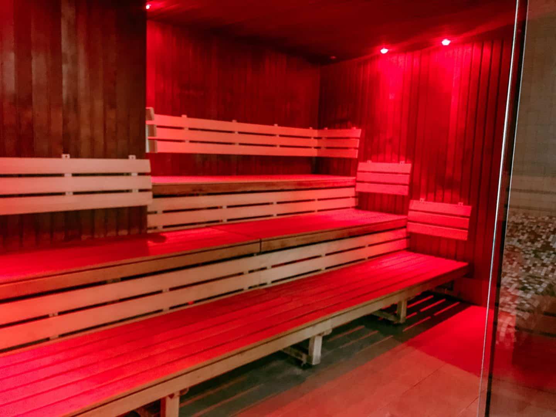The sauna at David LLoyd Clubs, Milton Keynes