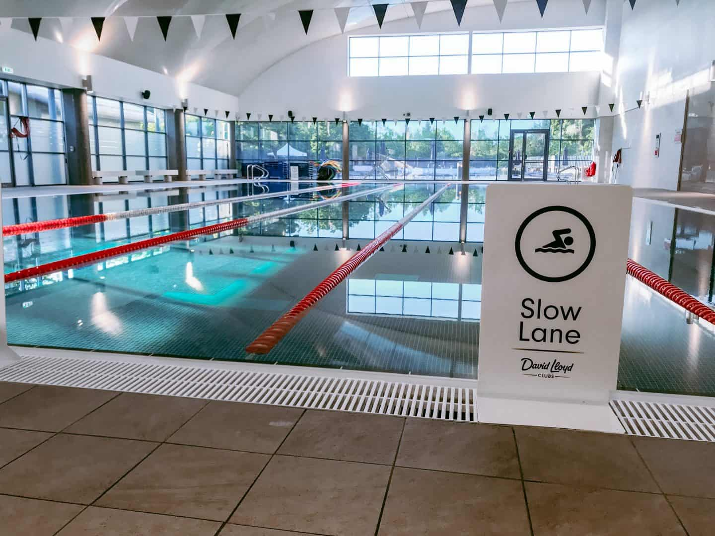 The slow lane at the newly refurbished indoor swimming pool at David LLoyd Clubs, Milton Keynes