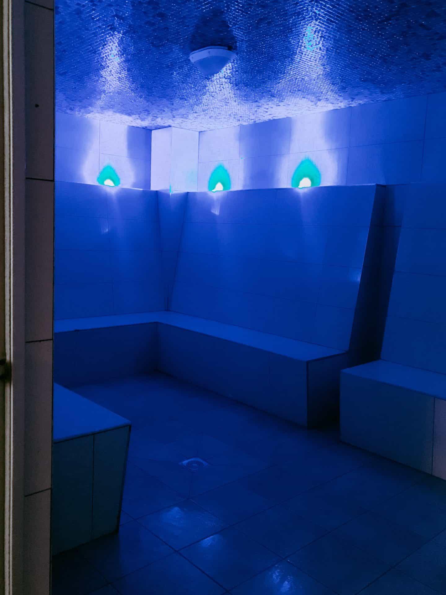 The steam room at David LLoyd Clubs, Milton Keynes