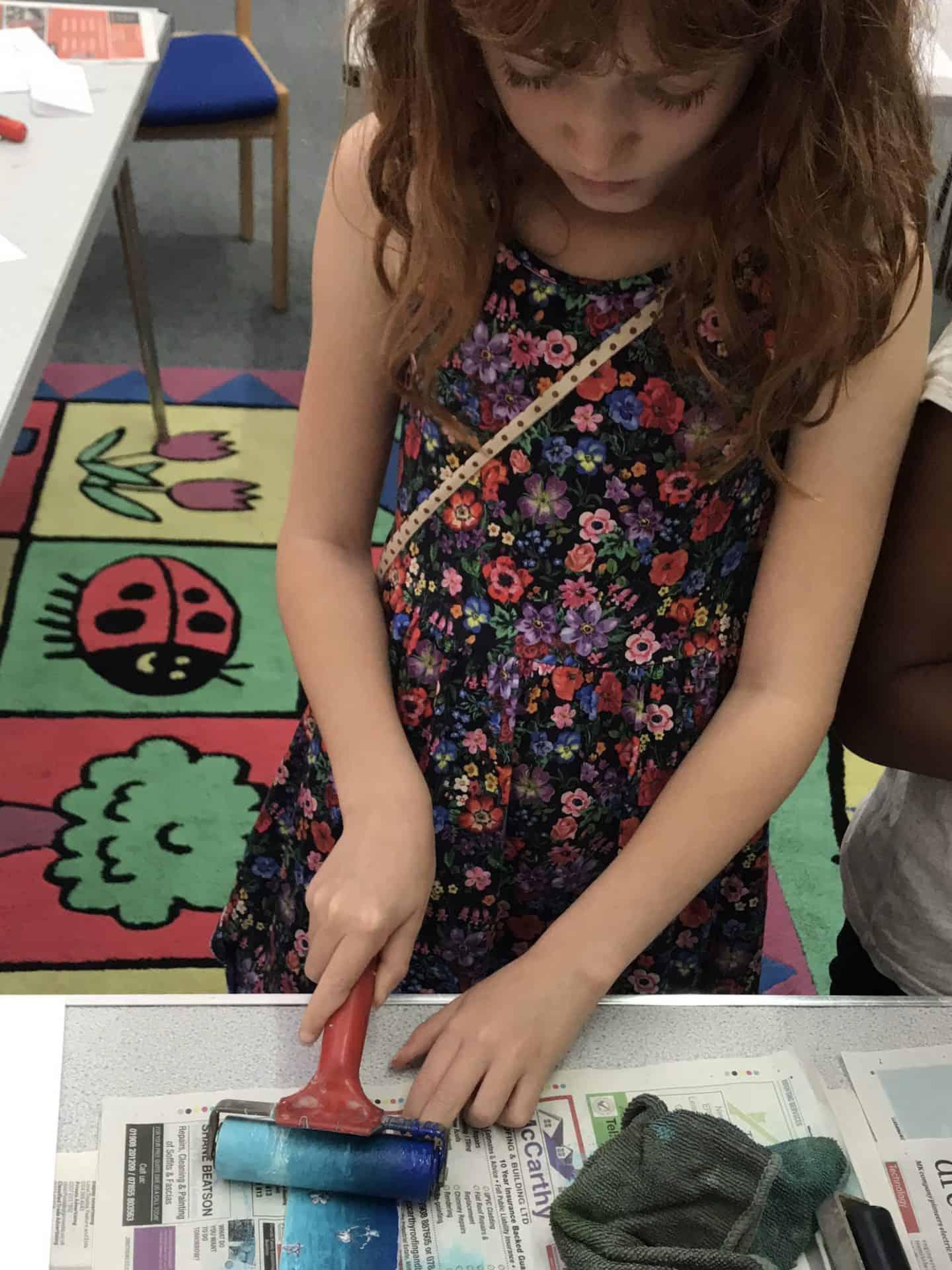 Inking up her polystyrene design