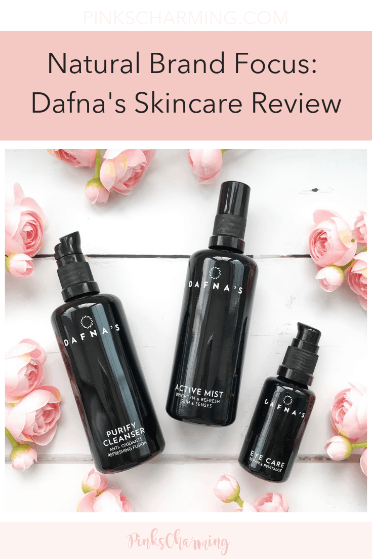 Natural brand focus: Dafna's Skincare Review. Read about this luxury clean beauty brand with its chic recyclable glass bottles.