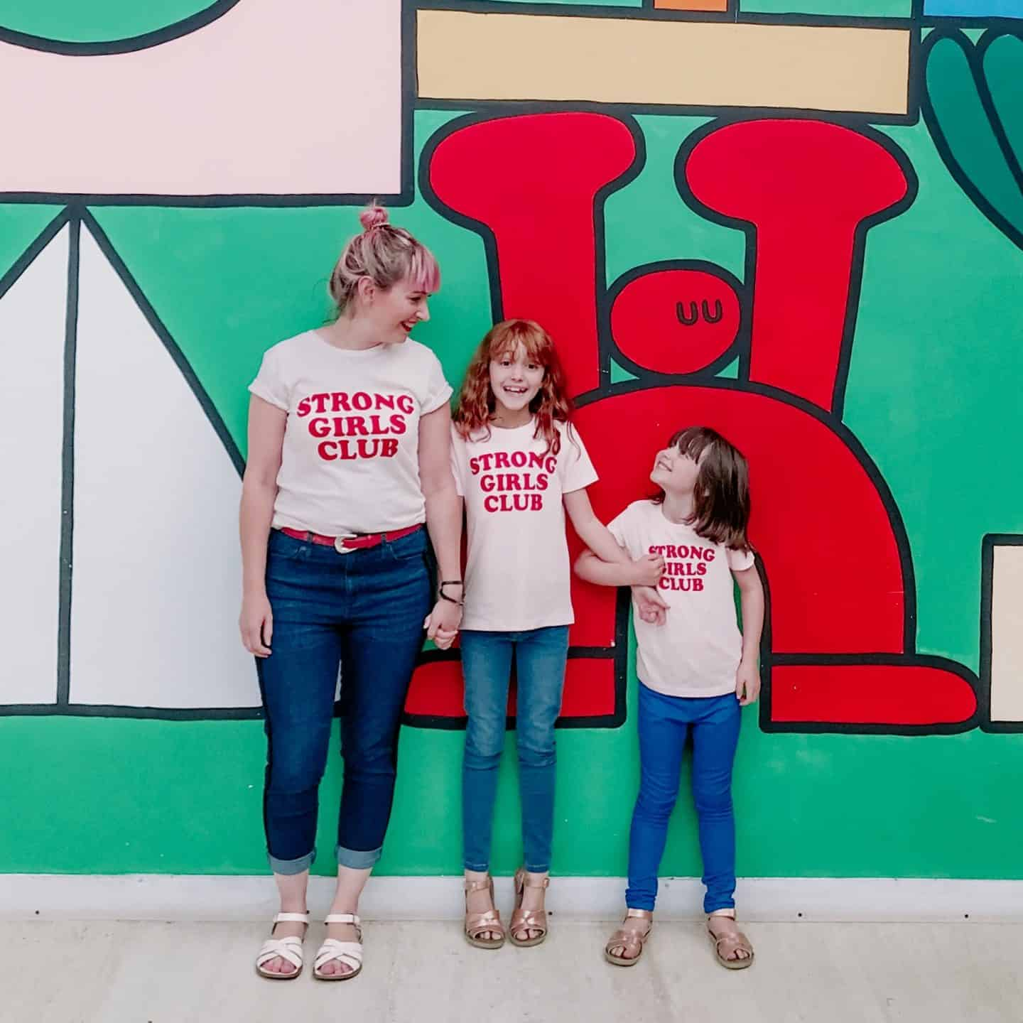 Three Strong Girls Club organic ethical empowerment t-shirts by Mutha.Hood