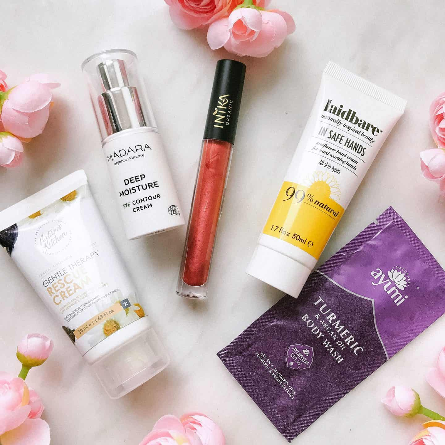 August Love Lula Natural Beauty Box contents