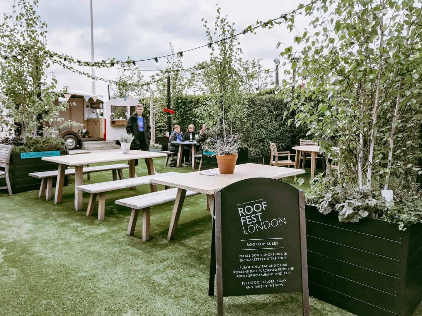 Holding on to summer at John Lewis' Roof Garden London