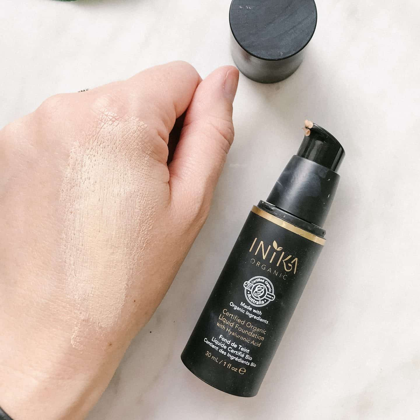 Inika Certified Organic Liquid Foundation smoothed out