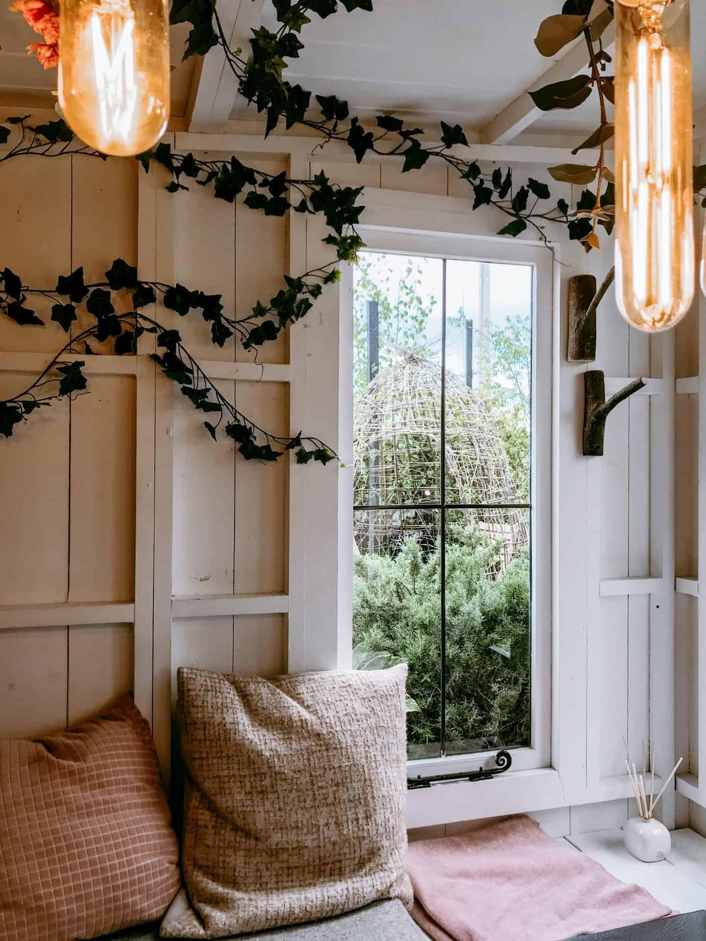 Inside The Garden Den at John Lewis' Roof Garden London