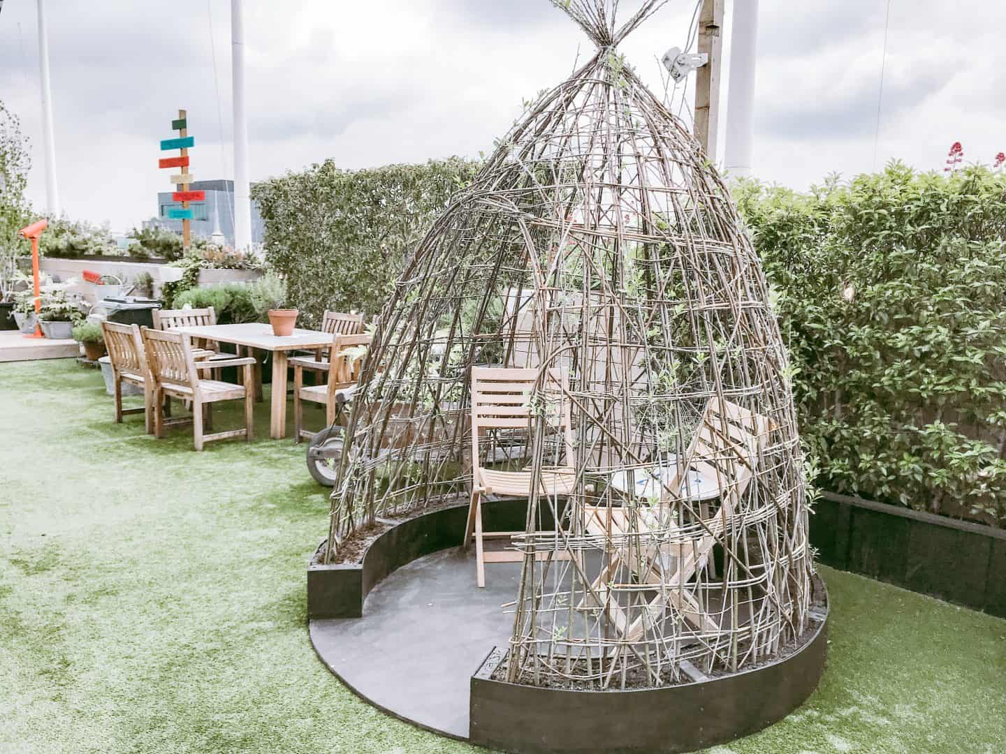 Teepee at John Lewis' Roof Garden London