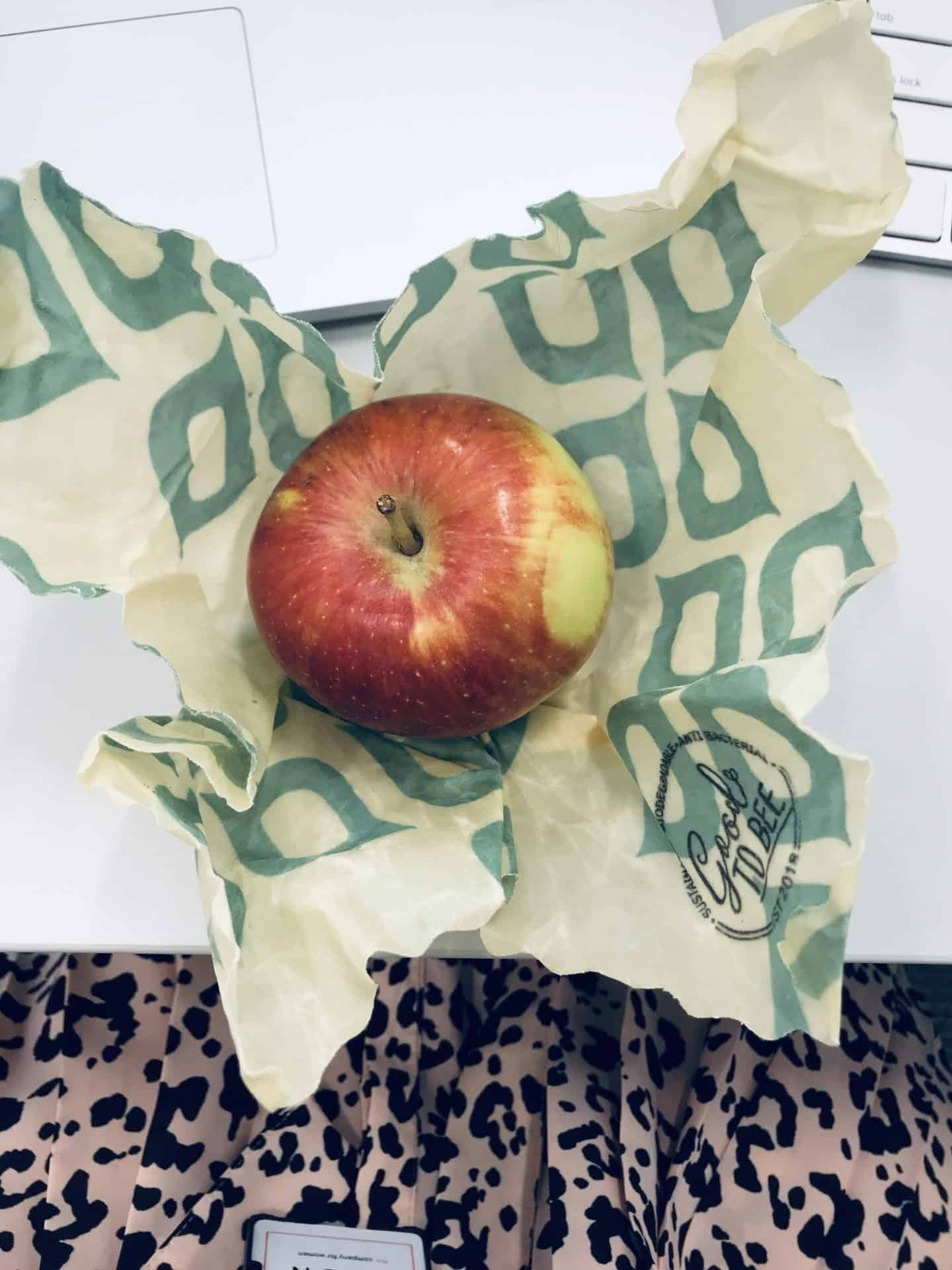 Apple in a beeswax wrap