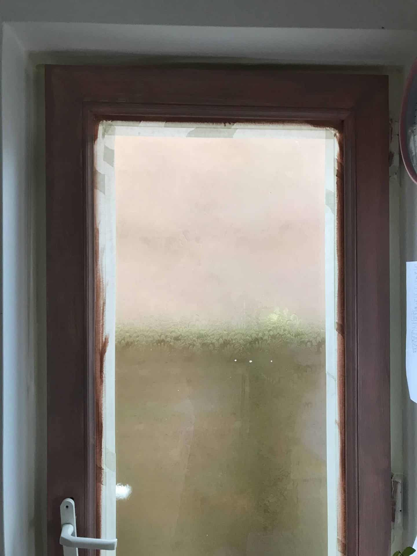 uPVC door painted in two coats of Frenchic Dusky Blush Al Fresco paint