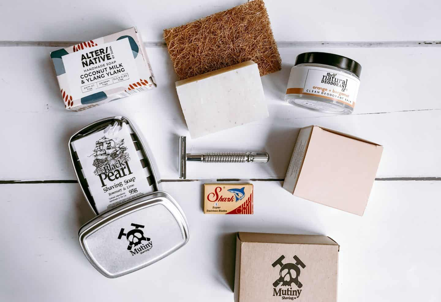 Eco-friendly soaps, razor and deodorant from Barnes + Binns in Hove