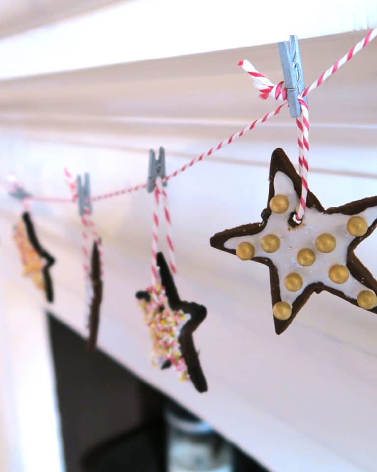 Edible Christmas star biscuit decorations