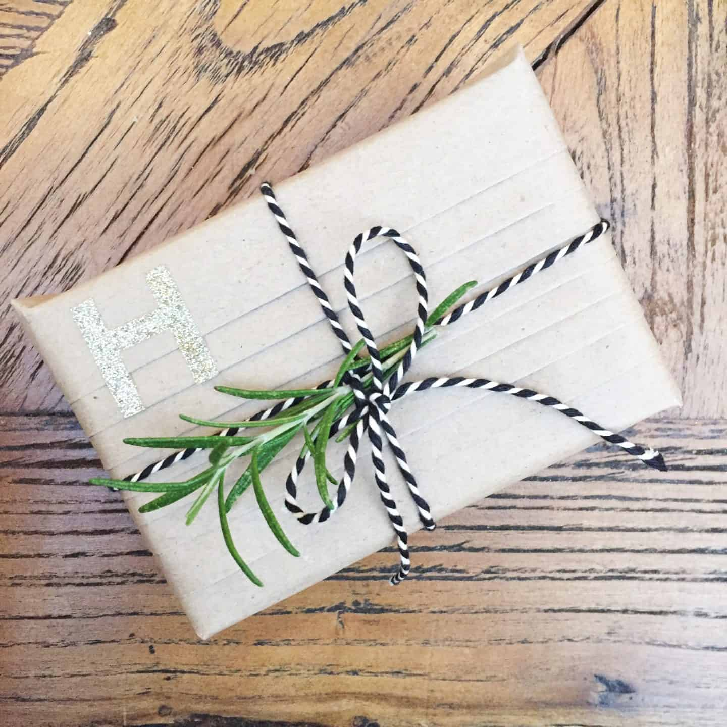 Home made eco-friendly wrapping paper