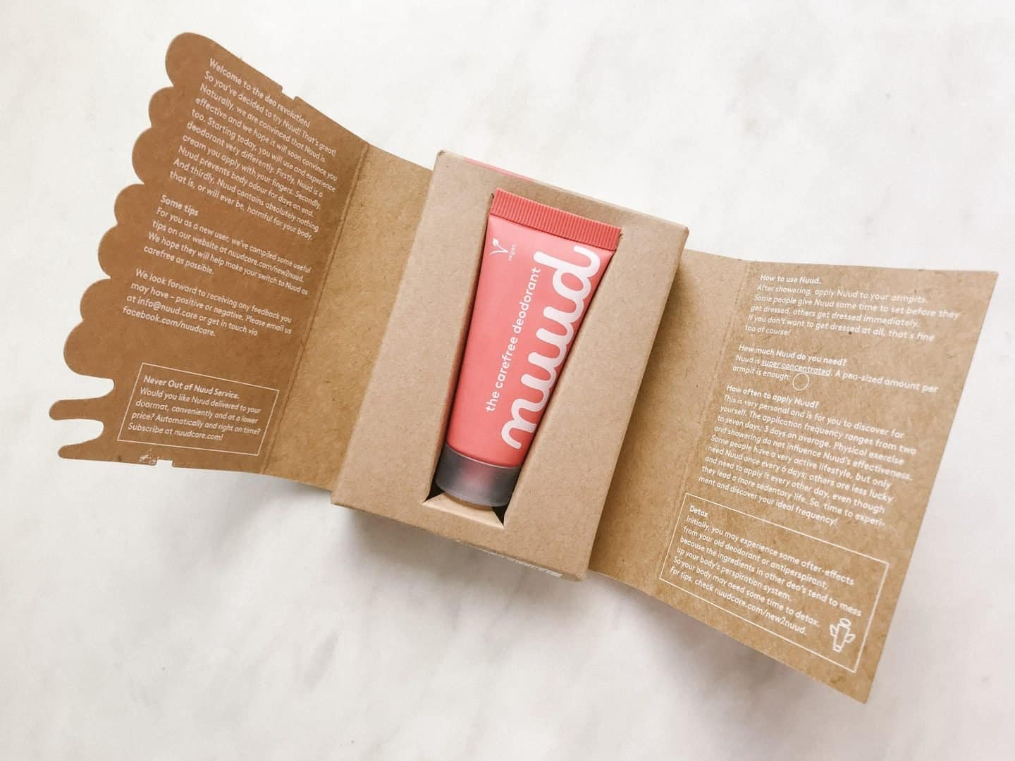 Nuud Zero Waste Natural Deodorant Packaging