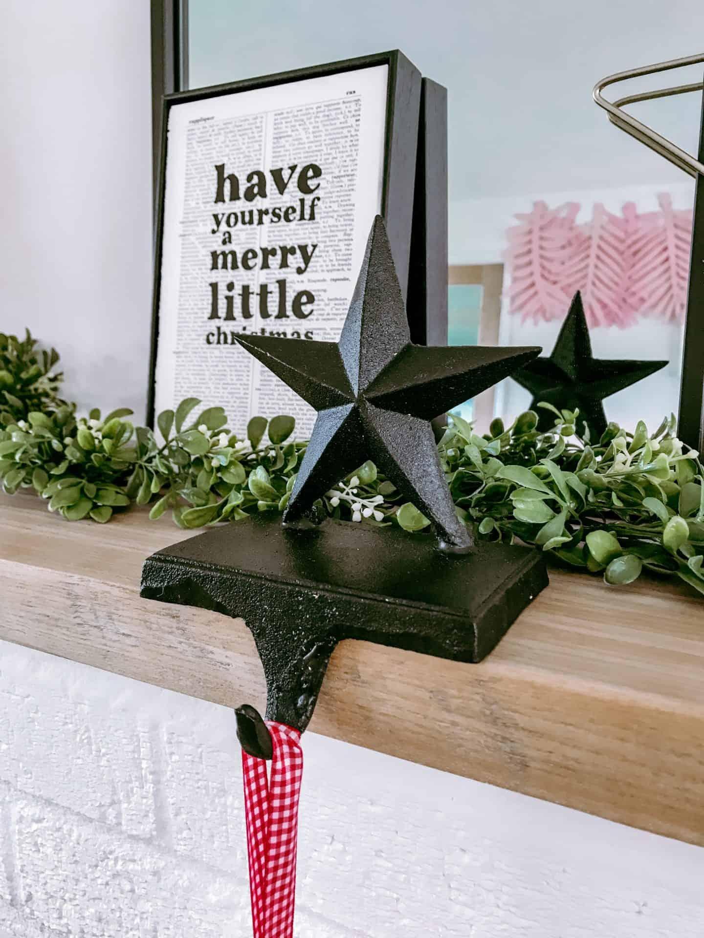 Star Christmas stocking hanger
