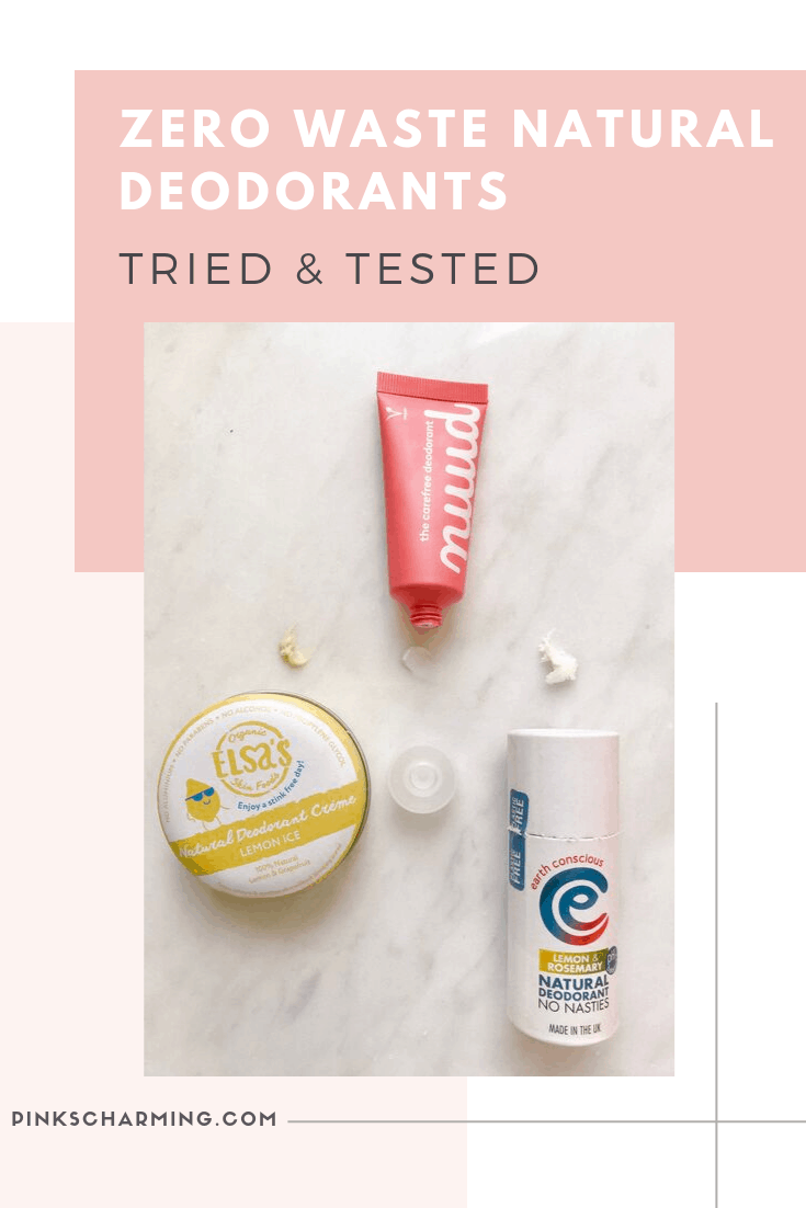 Zero Waste Natural Deodorants from Elsa's Organic Skinfoods, Nuud and Earth Conscious tried and tested