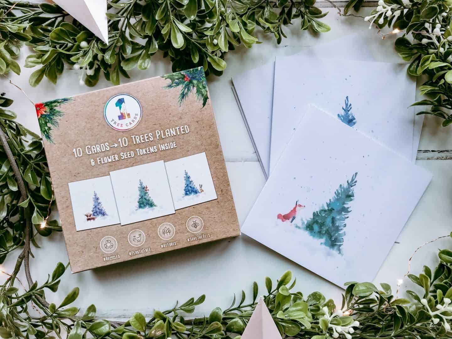 1 Tree Cards eco friendly Christmas cards