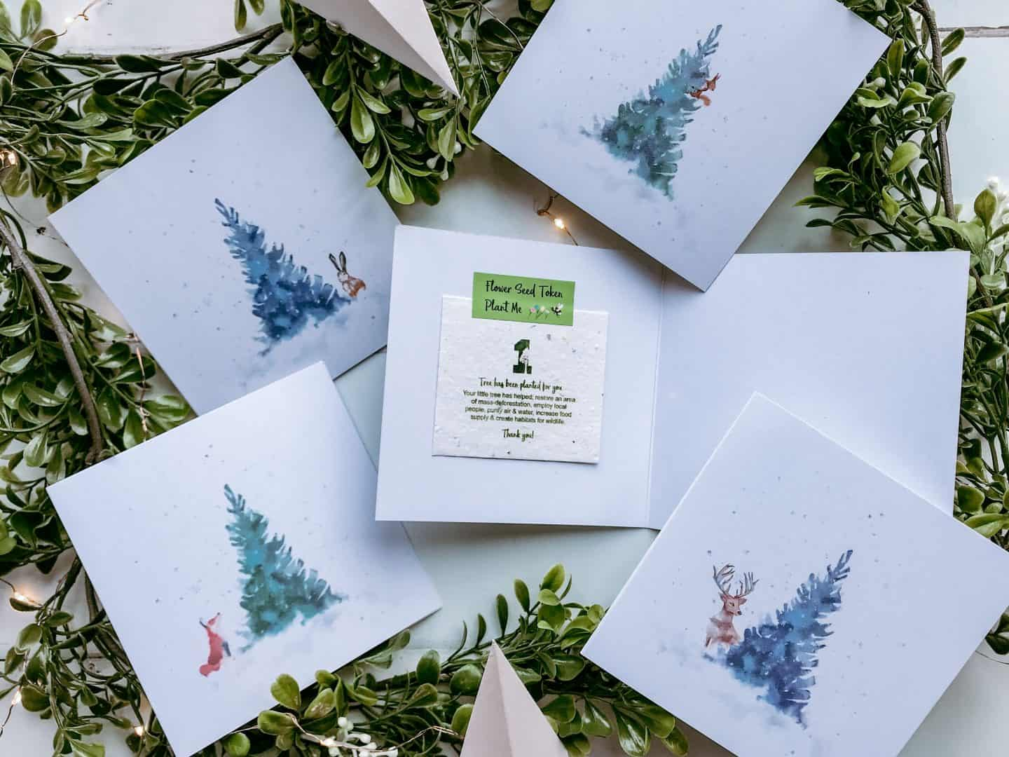 1 Tree Cards plastic free eco friendly Christmas cards