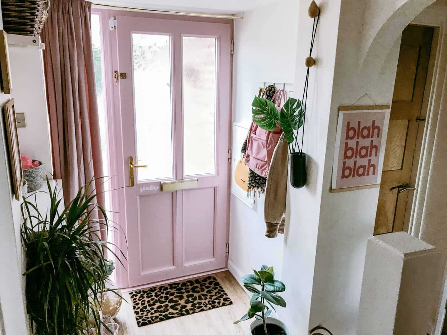 Create a cosy hall with a velvet curtain across the front door