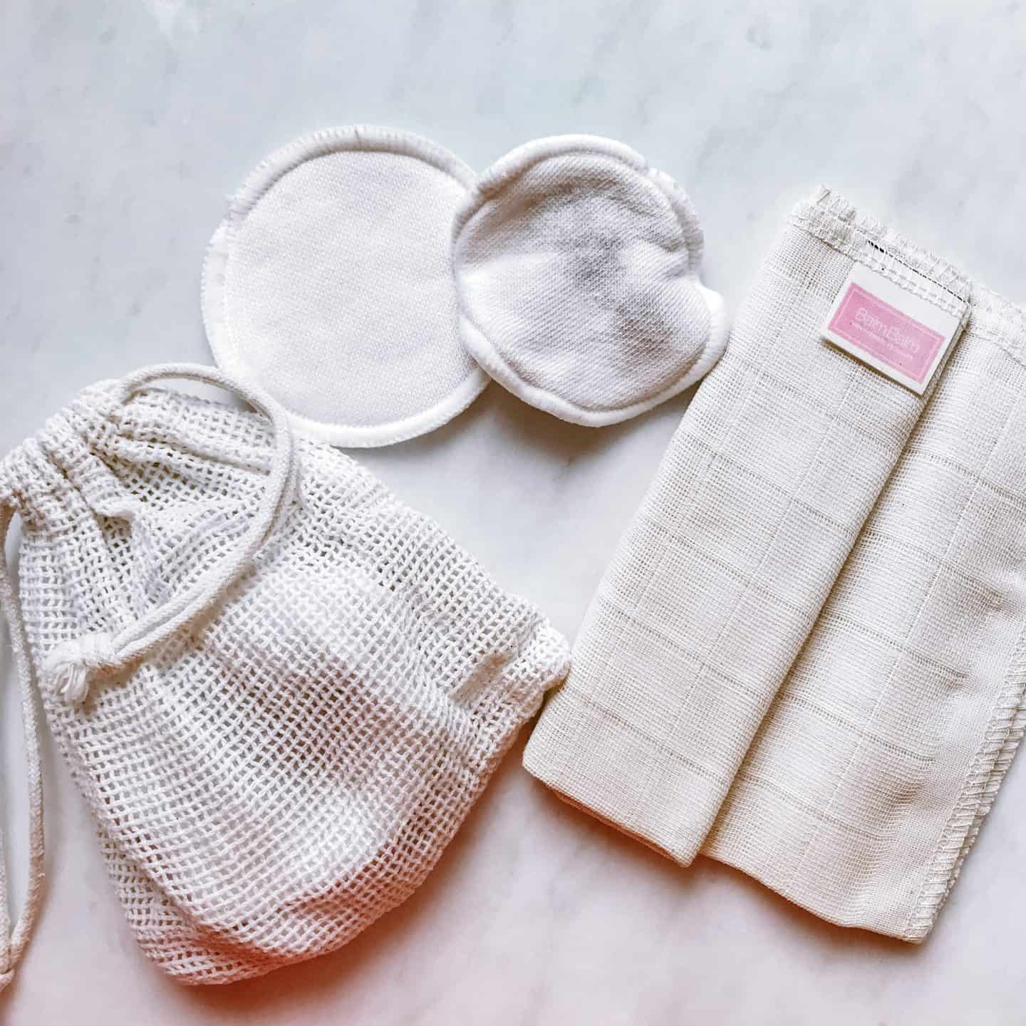 Reusable cotton pads and muslin cloth