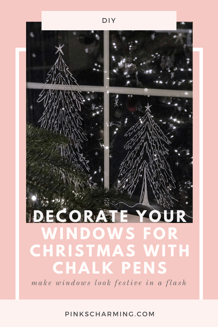 Tutorial: How to Decorate your Windows for Christmas with Chalk Pens. It's the quickest and easiest way to make windows look festive in a flash!