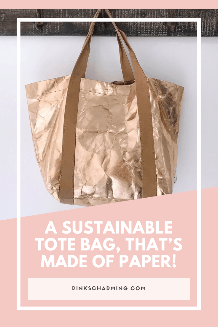 Eco-friendly fashion. A sustainable tote bag that's made of paper from My Paper Tote.png