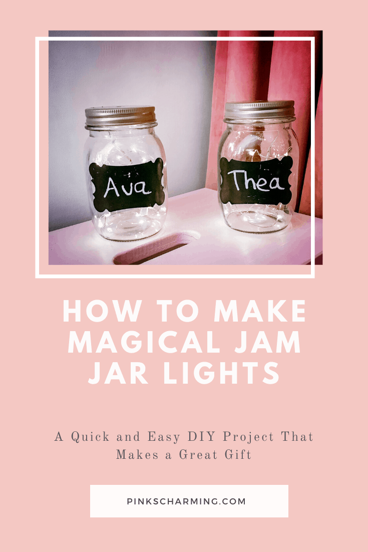 How to make Magical Jam Jar Lights. A quick and easy DIY that makes a great gift.