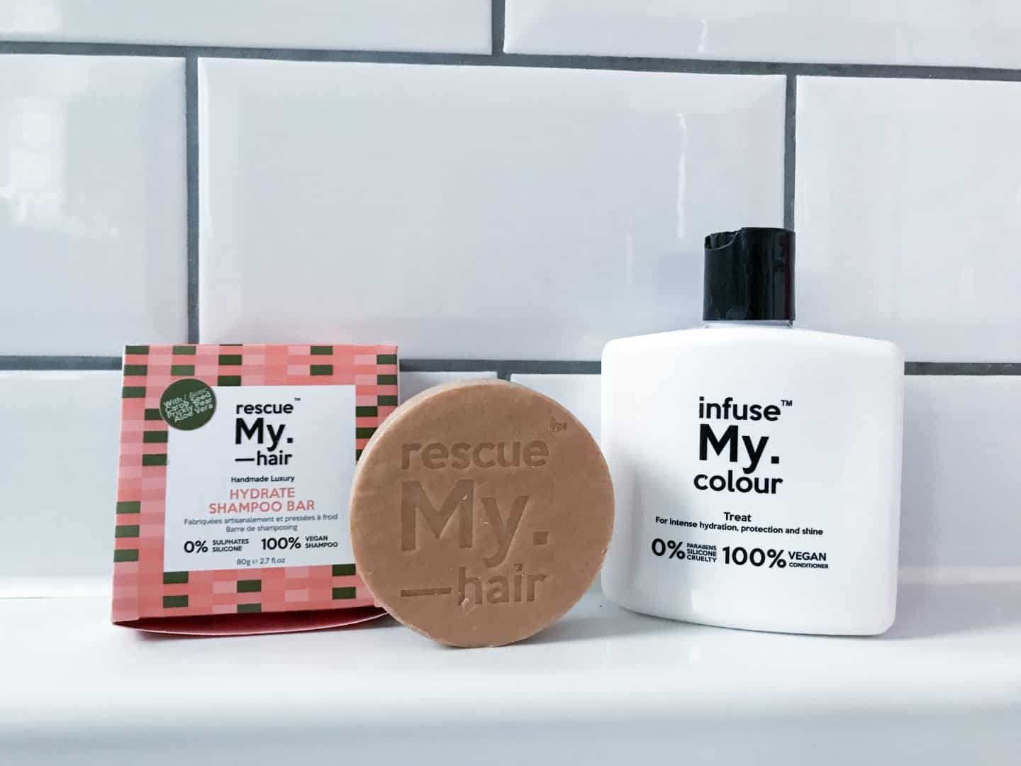 Rescue My. Hair Hydrate Shampoo Bar and Infuse My. Colour Treat Conditioner Luxury Haircare from My. Haircare