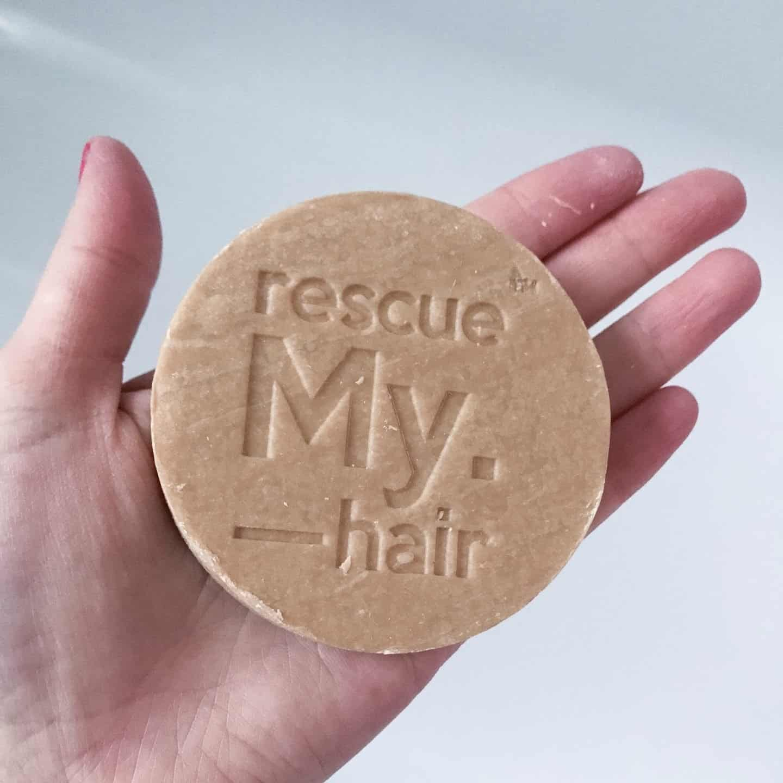 Rescue My. Hair Hydrate Shampoo Bar on hand