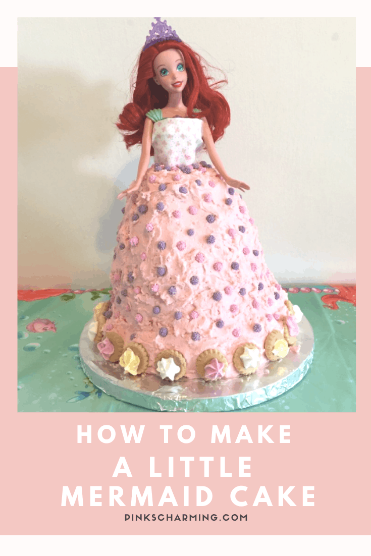 An easy to follow step by step tutorial showing you how to make a Little Mermaid Doll Birthday cake.