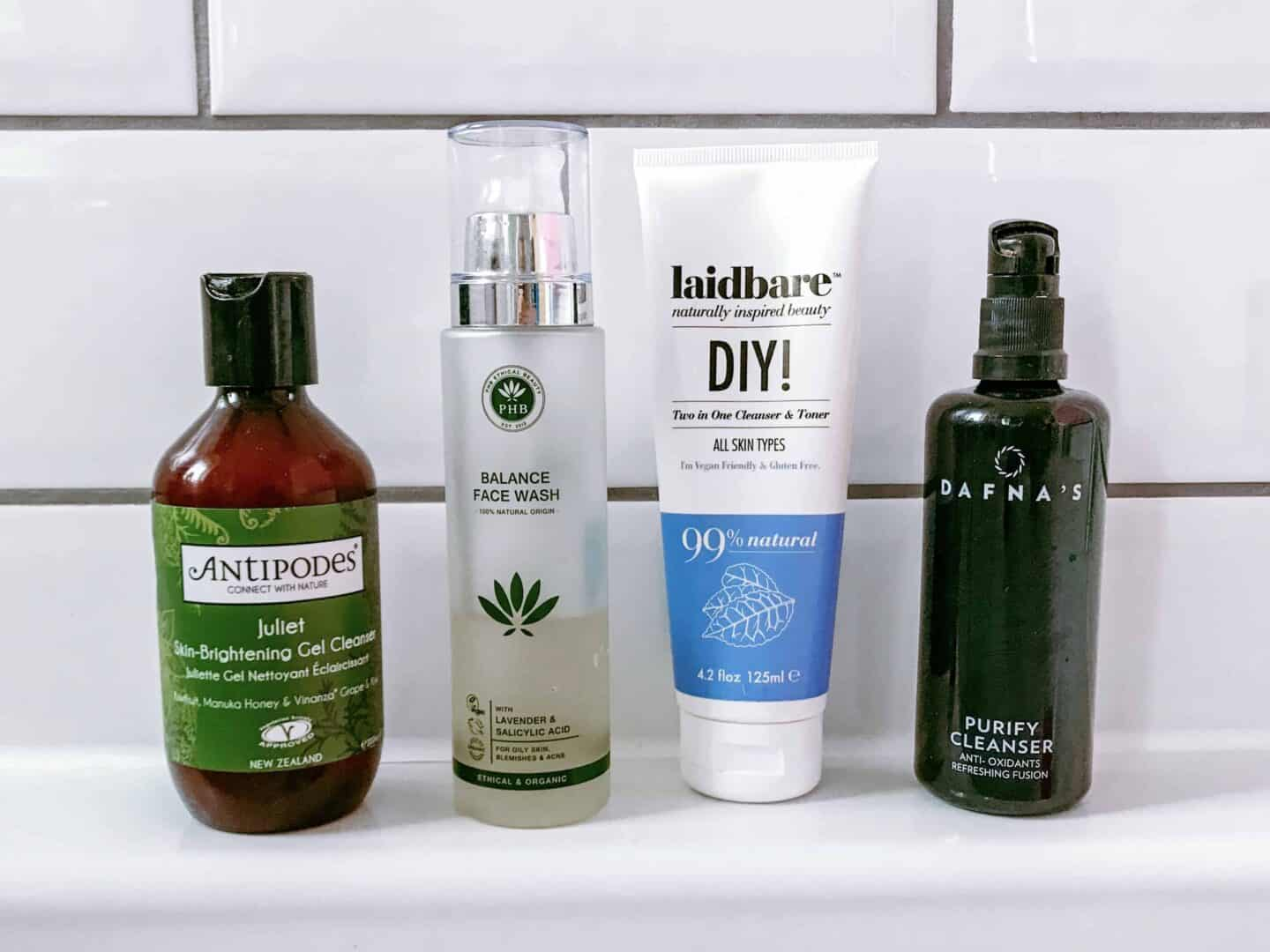 4 of the Best Clean Face Washes from Laidbare, PHB Ethical Beauty, DAFNAs and Antipodes Tried and Tested