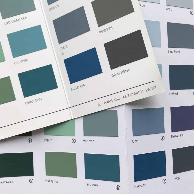 Graphenstone Paint colour chart