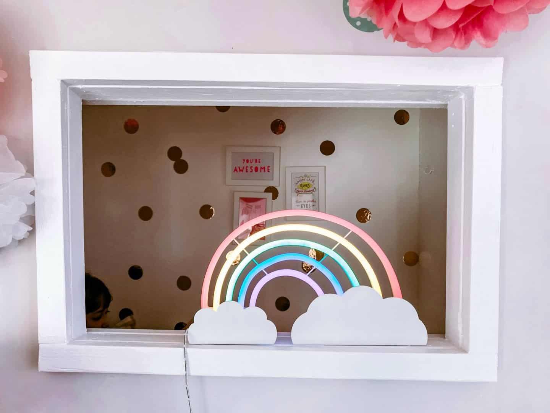 A look through a window into a magical kids reading den