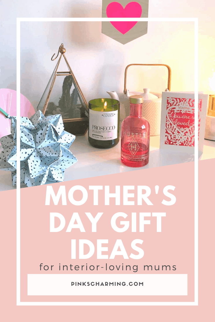 A selection of beautiful Mother's Day gift ideas for interior-loving mums