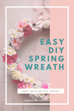 How to make an easy spring door wreath in minutes - a super quick tutorial