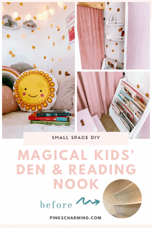 Small space DIY - how to make a magical kids' den and reading nook from an underused cupboard