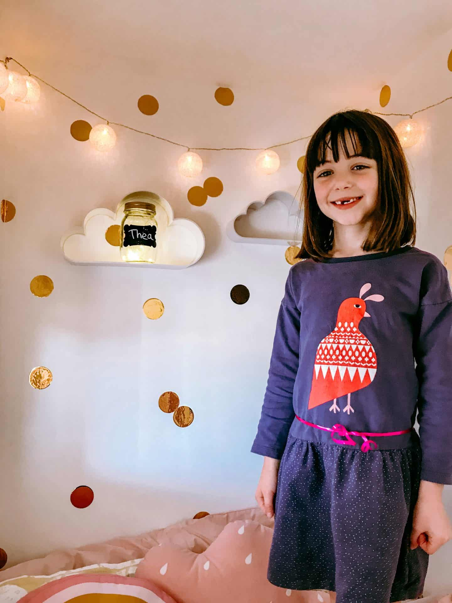 There's plenty of space in the girls' new reading den